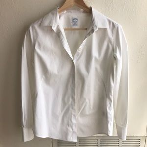 Brooks Brothers White Button Down | Size 6
